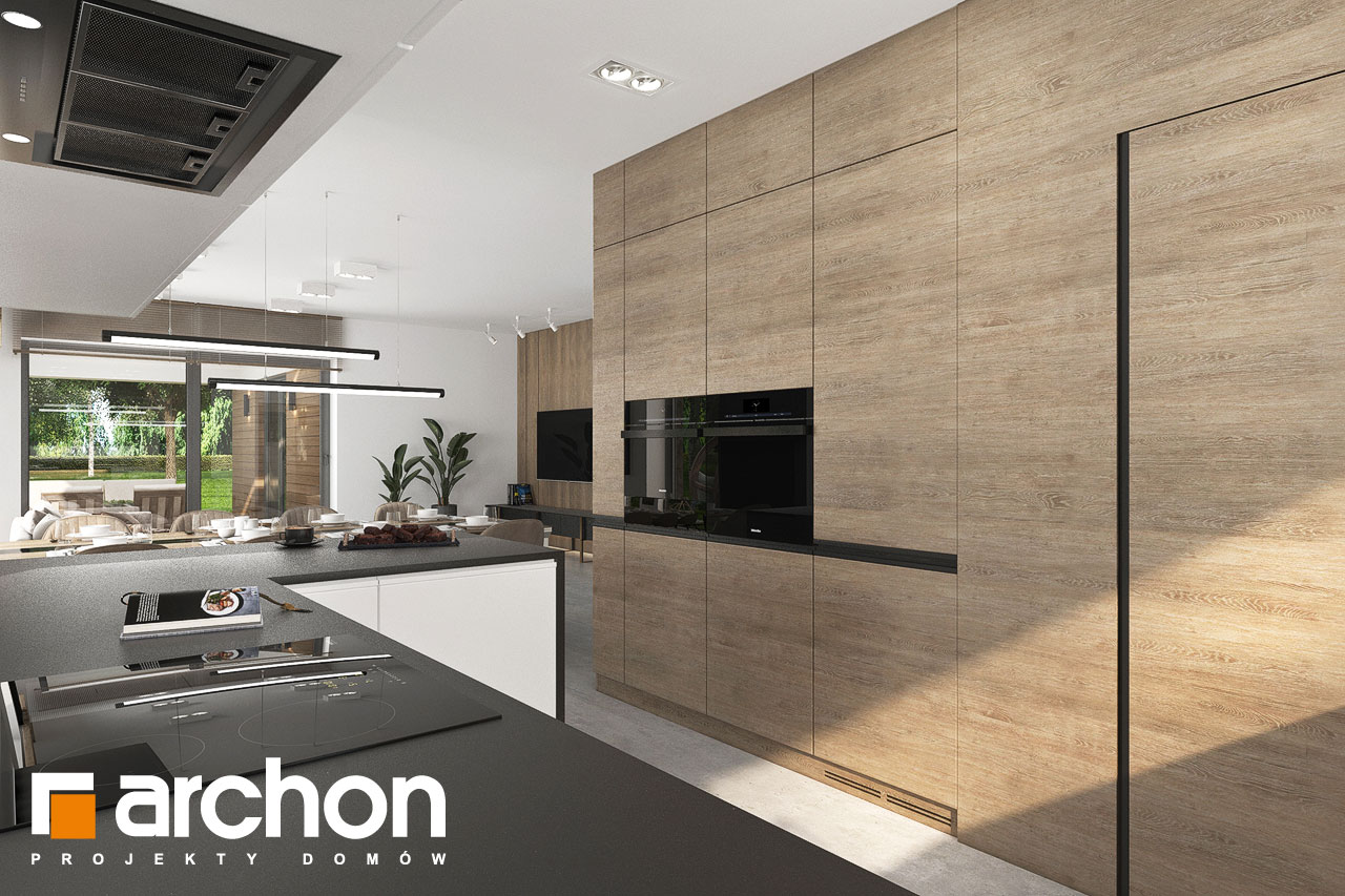 Проект будинку ARCHON+ Будинок в ренклодах 11 (Г2) візуалізація кухні 1 від 2