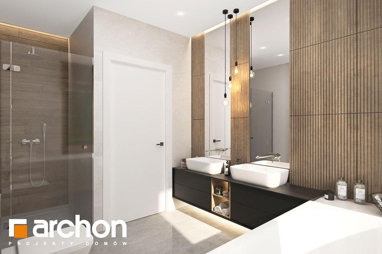 Проект будинку ARCHON+ Будинок в ренклодах 11 (Г2) візуалізація ванни (візуалізація 3 від 2)
