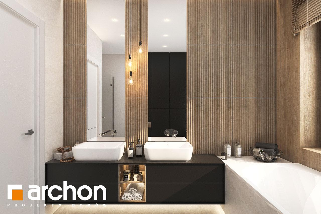 Проект будинку ARCHON+ Будинок в ренклодах 11 (Г2) візуалізація ванни (візуалізація 3 від 3)