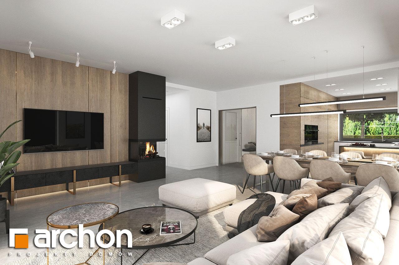 Проект будинку ARCHON+ Будинок в ренклодах 11 (Г2) денна зона (візуалізація 1 від 1)
