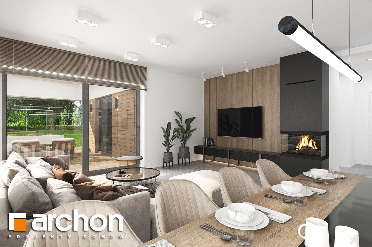 Проект будинку ARCHON+ Будинок в ренклодах 11 (Г2) денна зона (візуалізація 1 від 2)