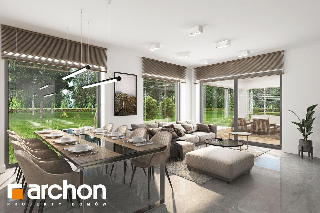 Проект будинку ARCHON+ Будинок в ренклодах 11 (Г2) денна зона (візуалізація 1 від 3)