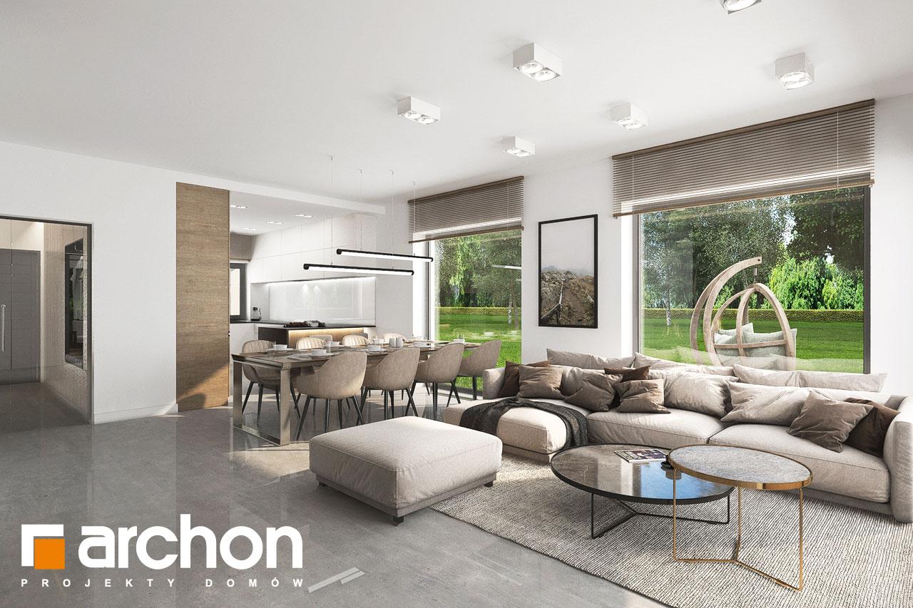 Проект будинку ARCHON+ Будинок в ренклодах 11 (Г2) денна зона (візуалізація 1 від 4)