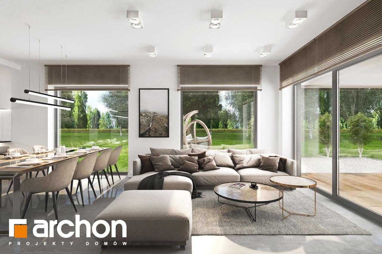 Проект будинку ARCHON+ Будинок в ренклодах 11 (Г2) денна зона (візуалізація 1 від 5)