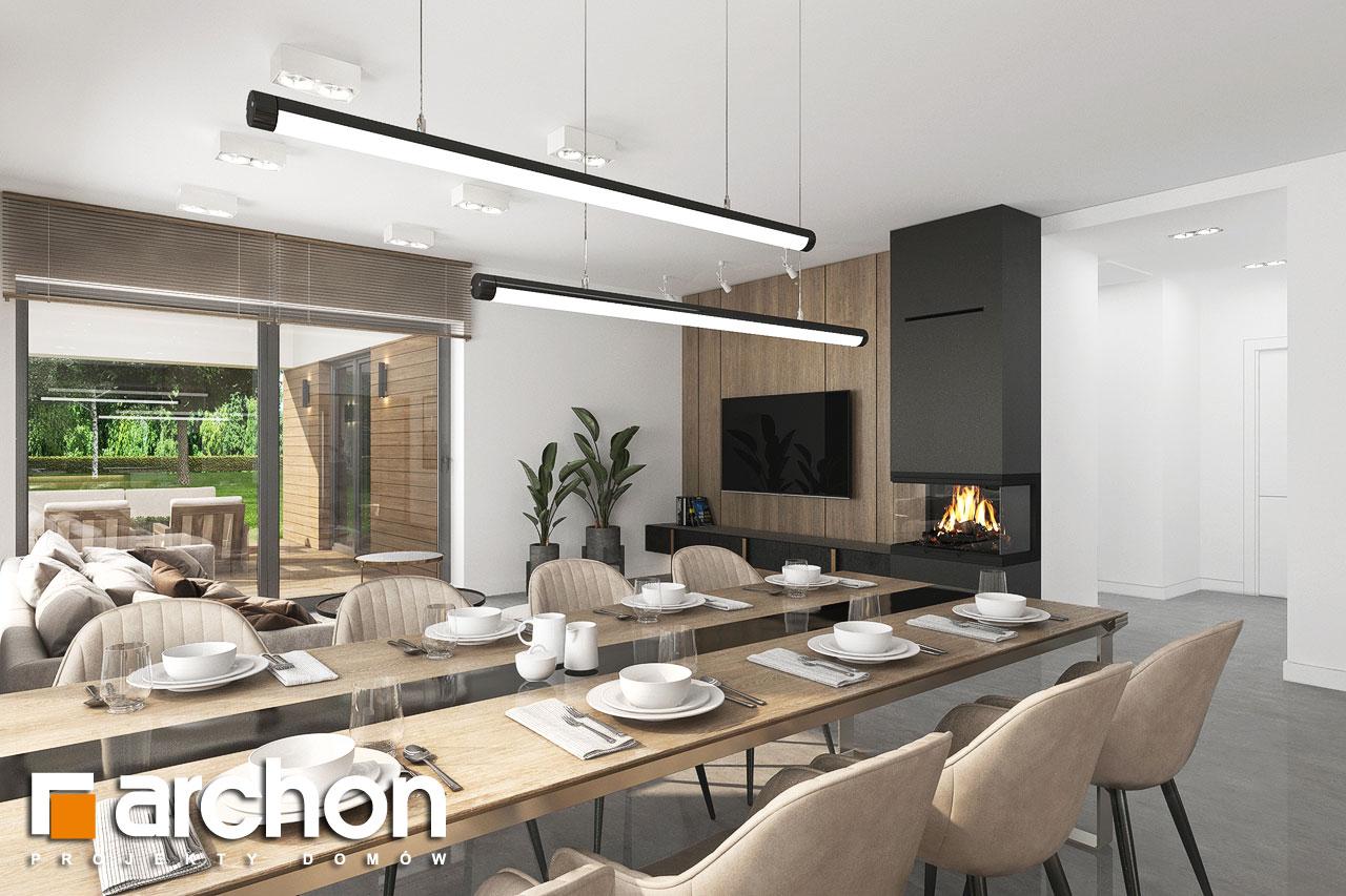 Проект будинку ARCHON+ Будинок в ренклодах 11 (Г2) денна зона (візуалізація 1 від 6)