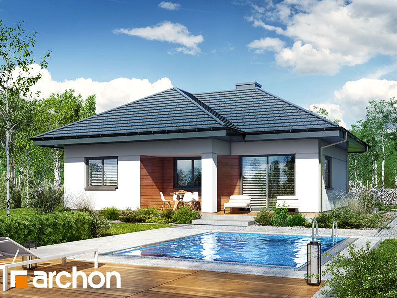 Проект дома ARCHON+ Дом в коштелях Вид 1