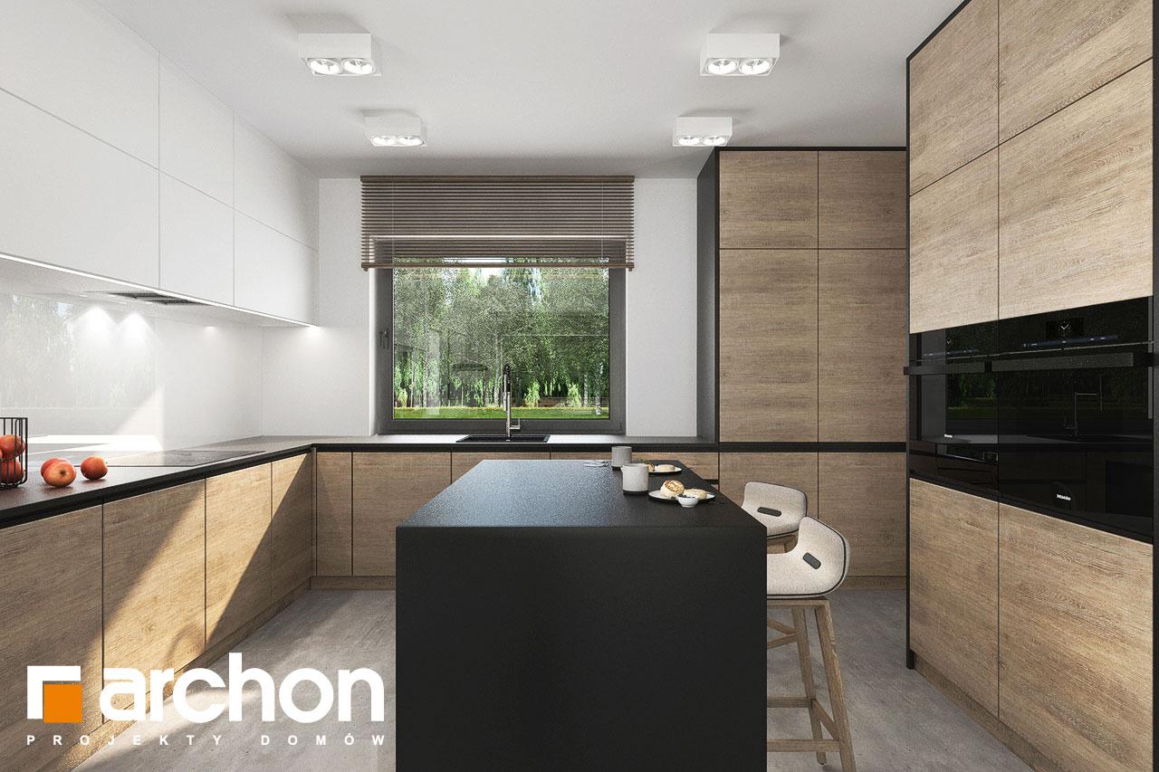 Проект будинку ARCHON+ Будинок у вівсянниці 6 (Г) візуалізація кухні 1 від 1