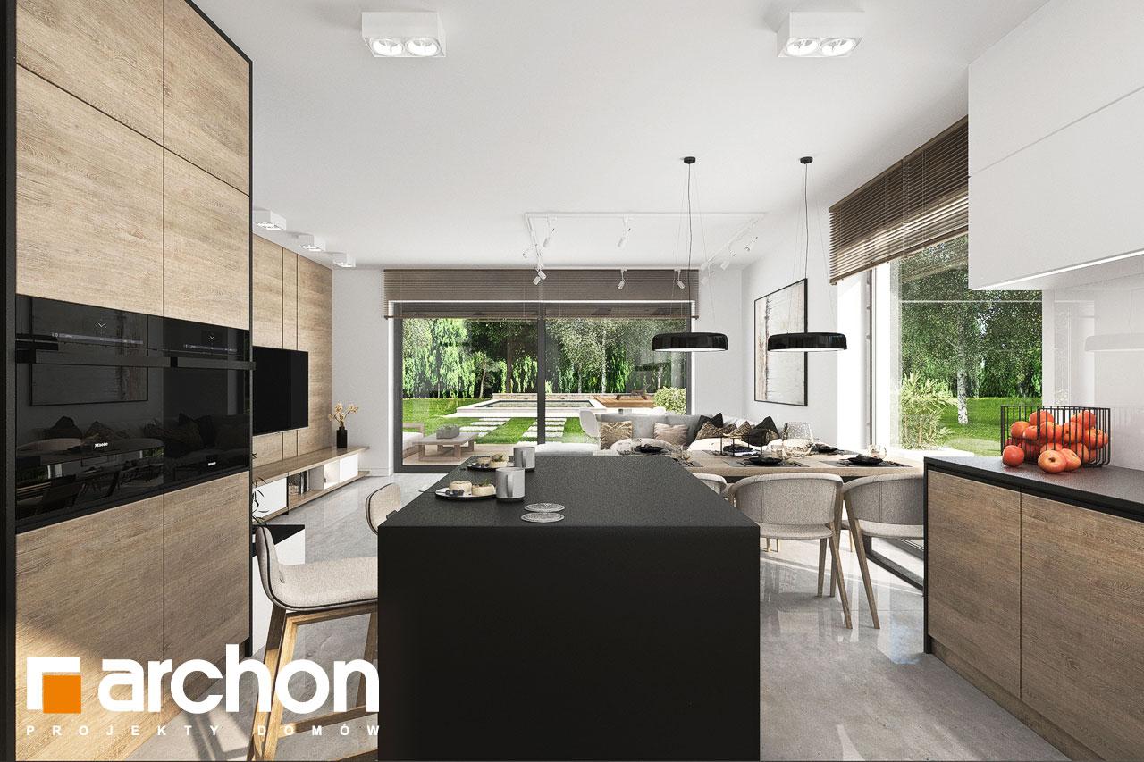 Проект будинку ARCHON+ Будинок у вівсянниці 6 (Г) візуалізація кухні 1 від 2