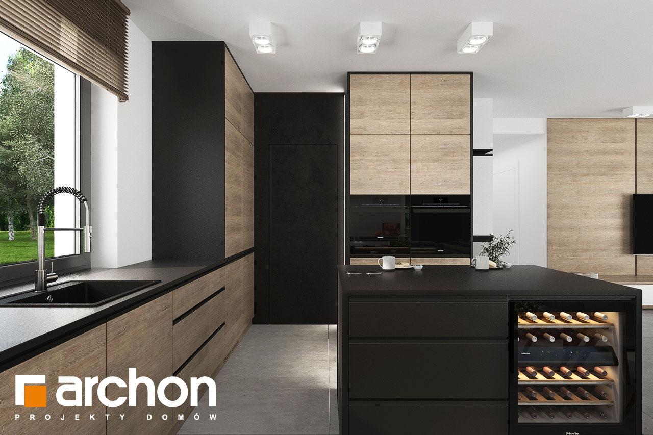Проект будинку ARCHON+ Будинок у вівсянниці 6 (Г) візуалізація кухні 1 від 3
