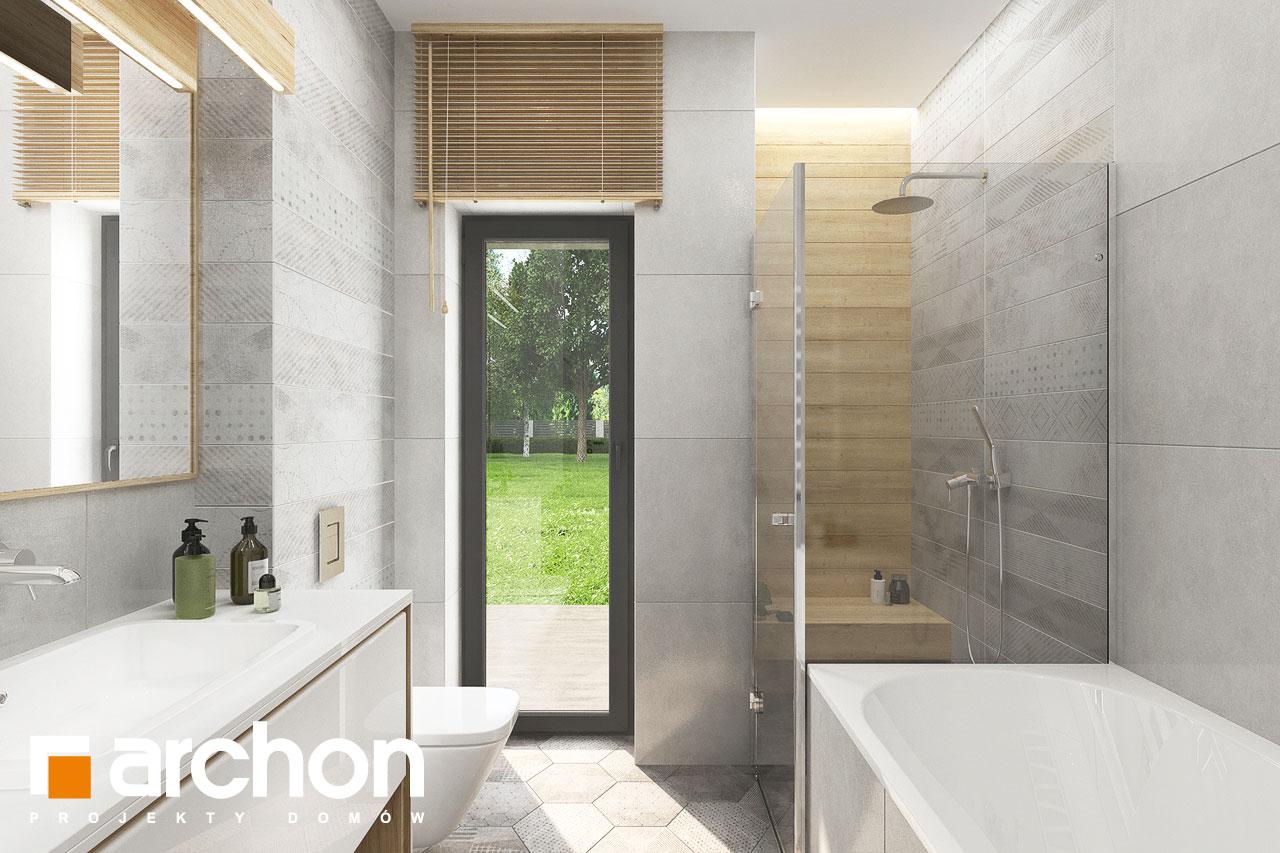 Проект будинку ARCHON+ Будинок у вівсянниці 6 (Г) візуалізація ванни (візуалізація 3 від 3)