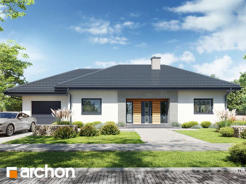 Проект будинку ARCHON+ Будинок у вівсянниці 6 (Г) Вид 1