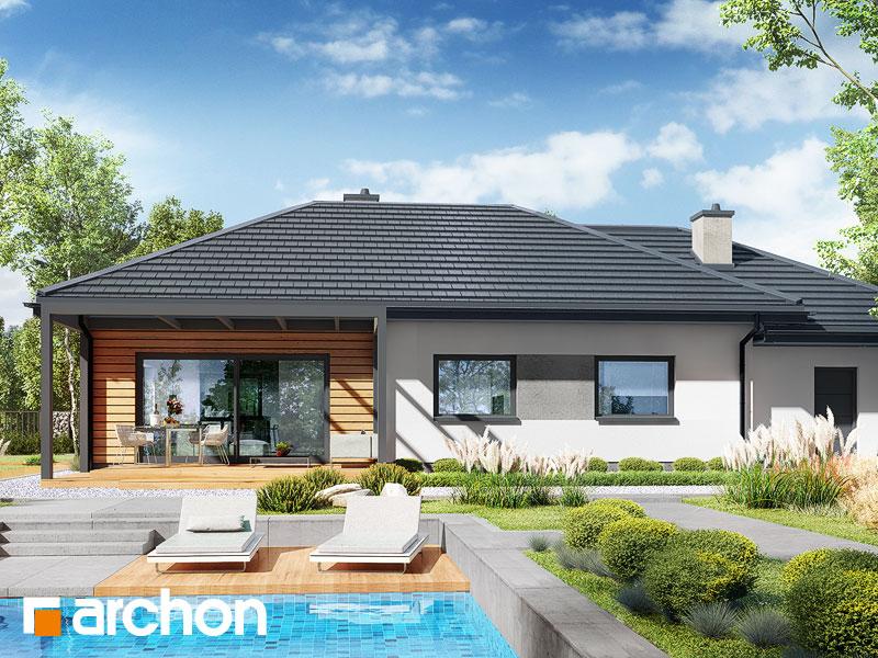 Проект будинку ARCHON+ Будинок у вівсянниці 6 (Г) Вид 2