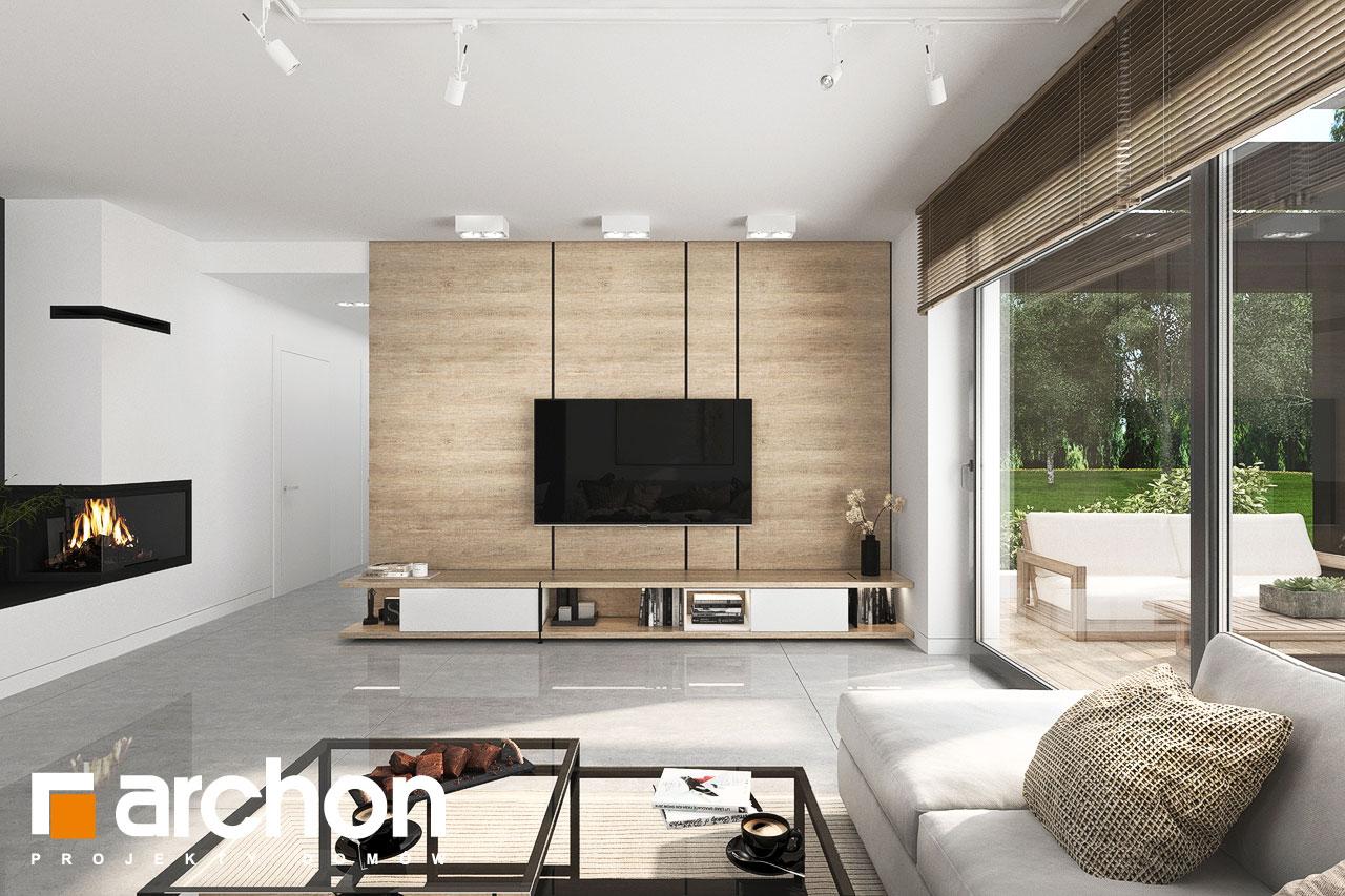 Проект будинку ARCHON+ Будинок у вівсянниці 6 (Г) денна зона (візуалізація 1 від 1)
