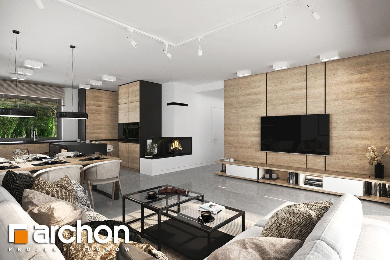 Проект будинку ARCHON+ Будинок у вівсянниці 6 (Г) денна зона (візуалізація 1 від 2)