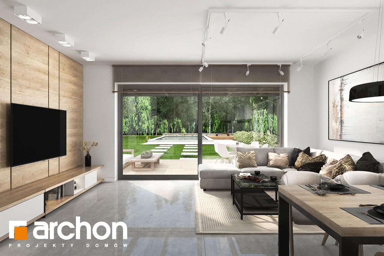 Проект будинку ARCHON+ Будинок у вівсянниці 6 (Г) денна зона (візуалізація 1 від 3)