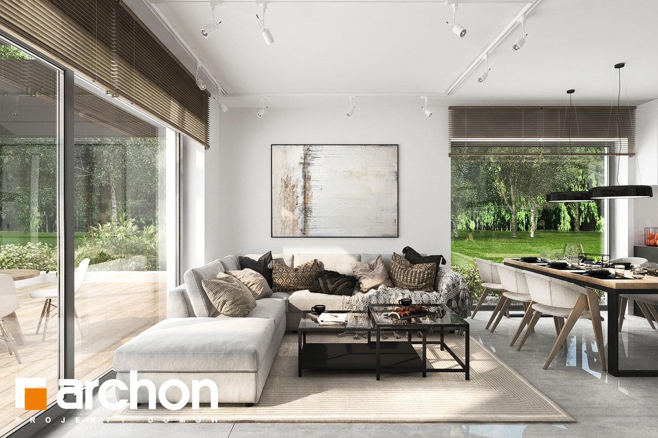 Проект будинку ARCHON+ Будинок у вівсянниці 6 (Г) денна зона (візуалізація 1 від 4)