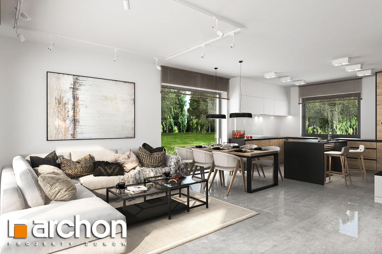 Проект будинку ARCHON+ Будинок у вівсянниці 6 (Г) денна зона (візуалізація 1 від 5)