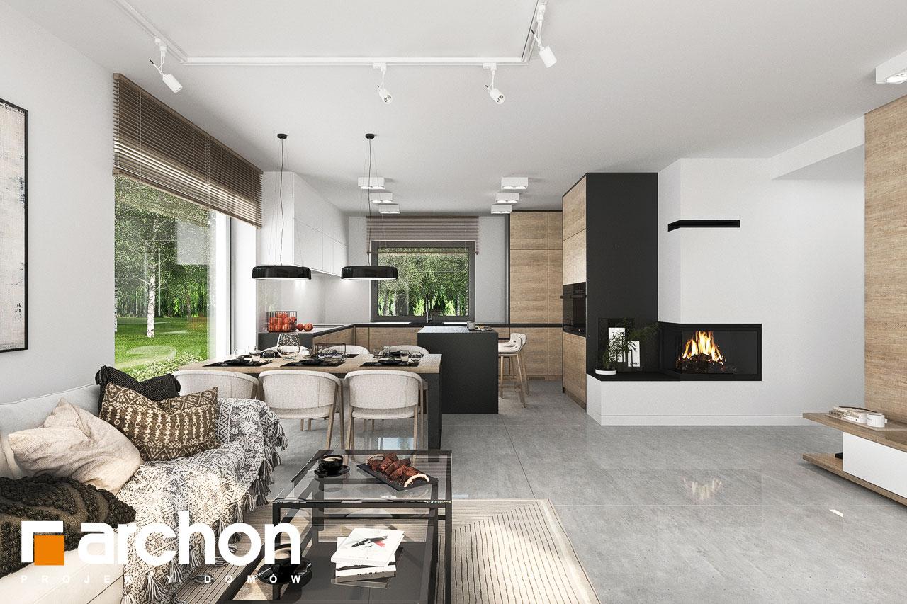 Проект будинку ARCHON+ Будинок у вівсянниці 6 (Г) денна зона (візуалізація 1 від 6)