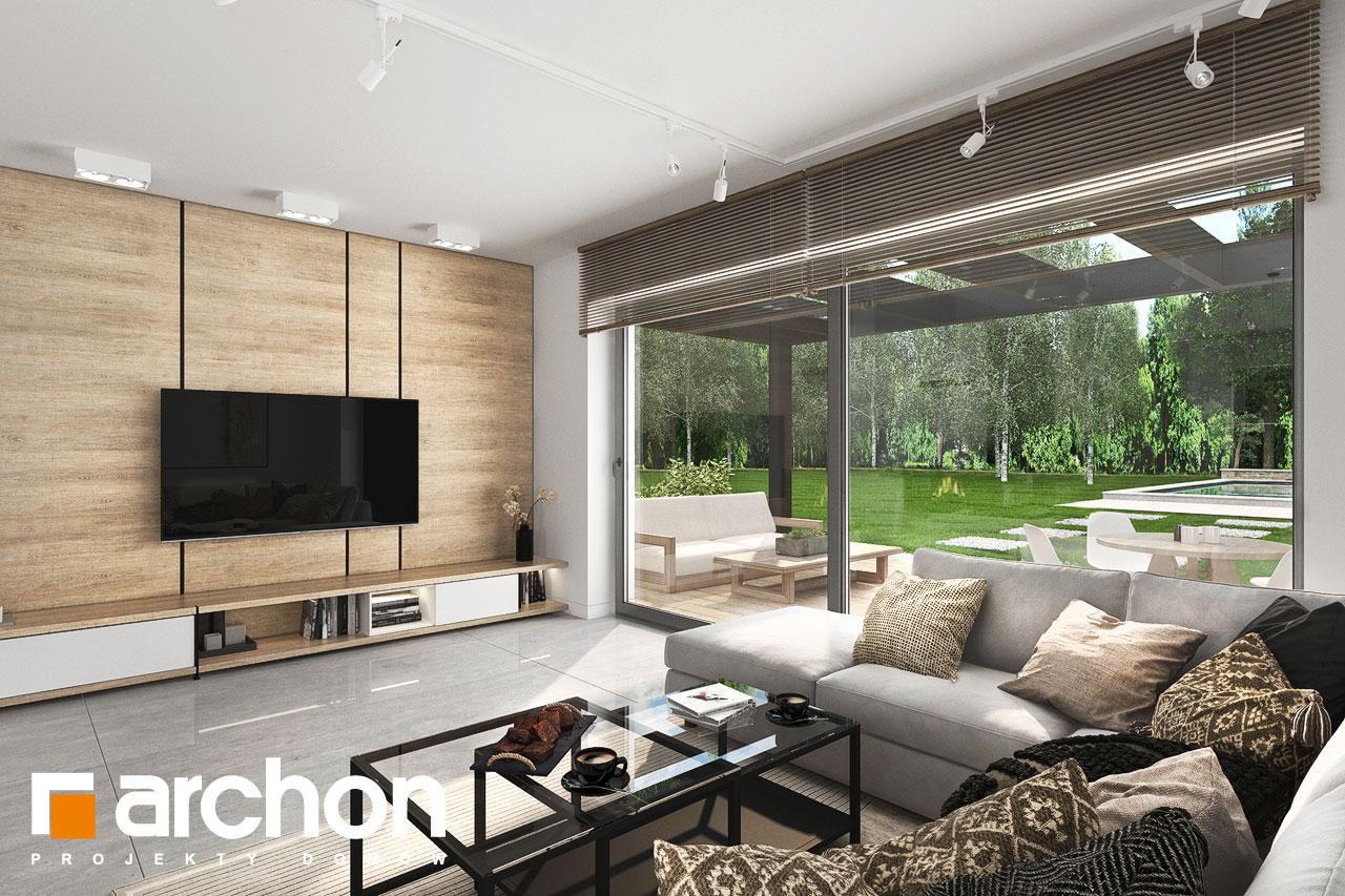 Проект будинку ARCHON+ Будинок у вівсянниці 6 (Г) денна зона (візуалізація 1 від 7)