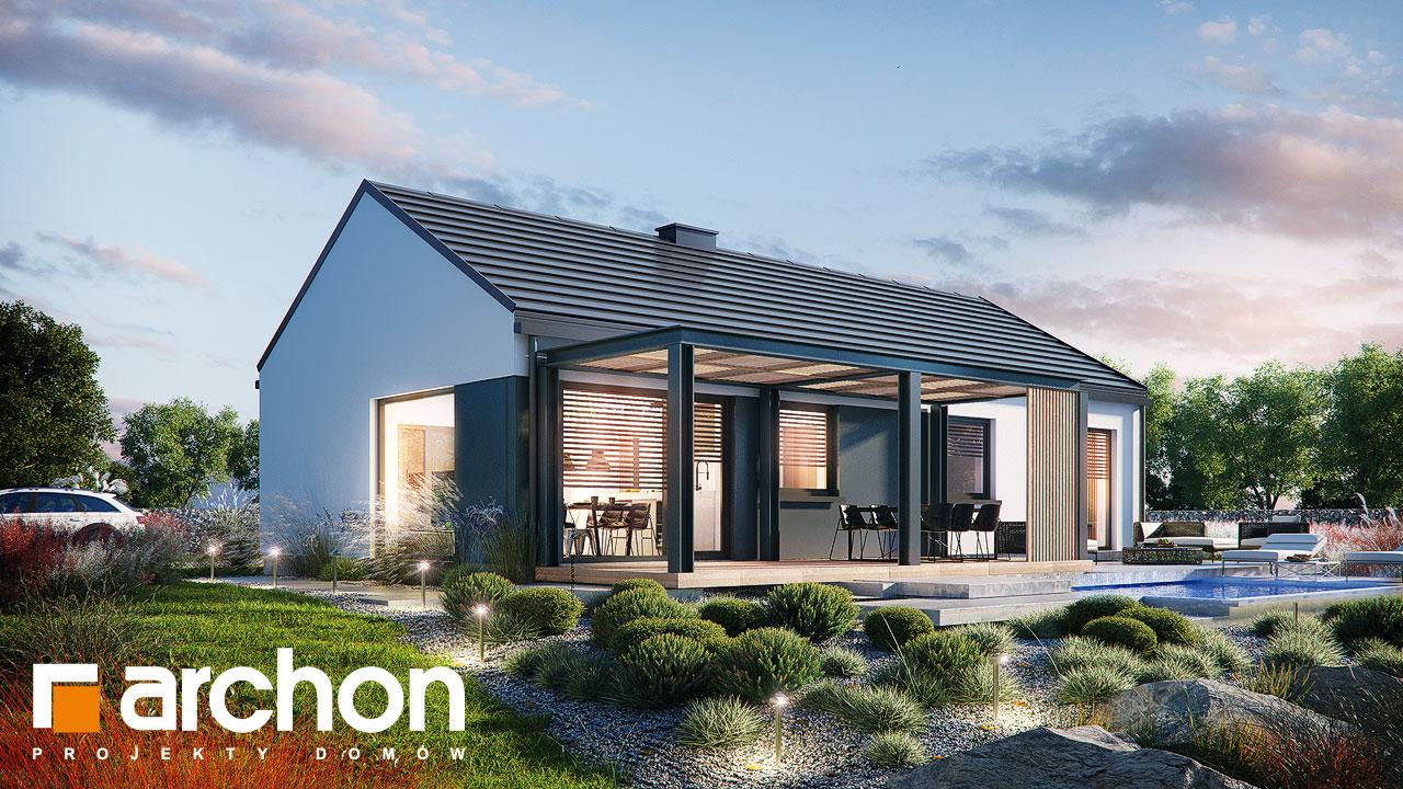 Проект дома ARCHON+ Дом в ирисе (НА) додаткова візуалізація