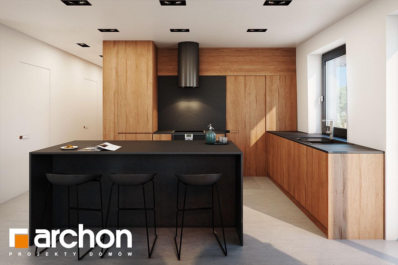 Проект дома ARCHON+ Дом в ирисе (НА) визуализация кухни 1 вид 2