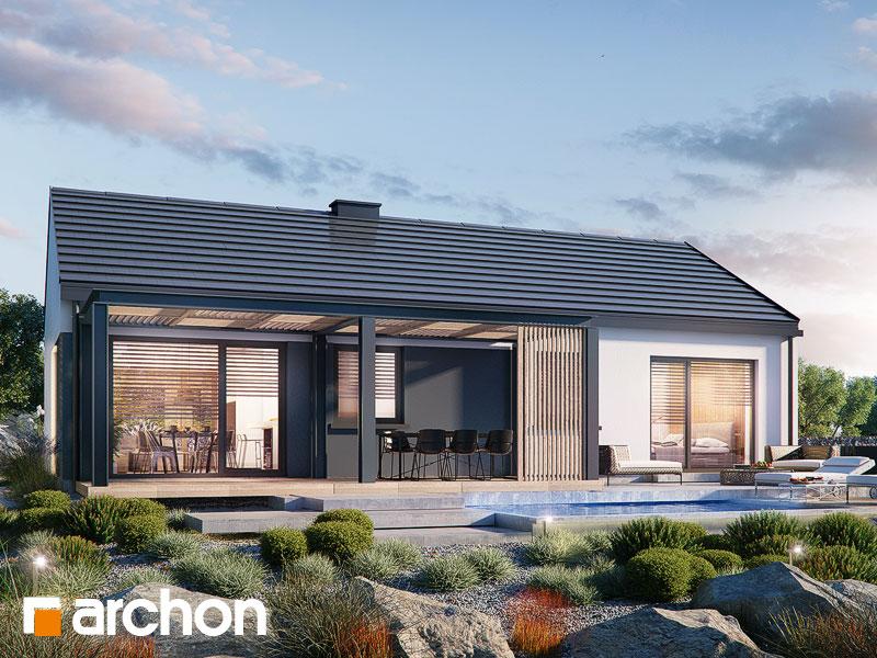 Проект будинку ARCHON+ Будинок в ірисі (НА) Вид 1