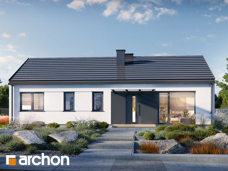 Проект дома ARCHON+ Дом в ирисе (НА) Вид 2