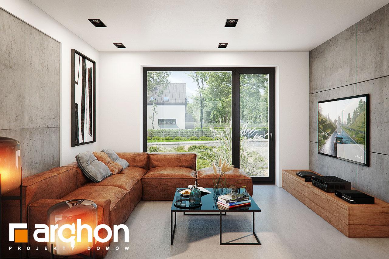 Проект будинку ARCHON+ Будинок в ірисі (НА) денна зона (візуалізація 1 від 4)