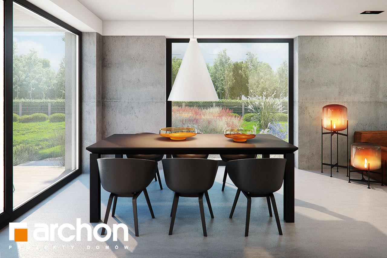 Проект будинку ARCHON+ Будинок в ірисі (НА) денна зона (візуалізація 1 від 6)