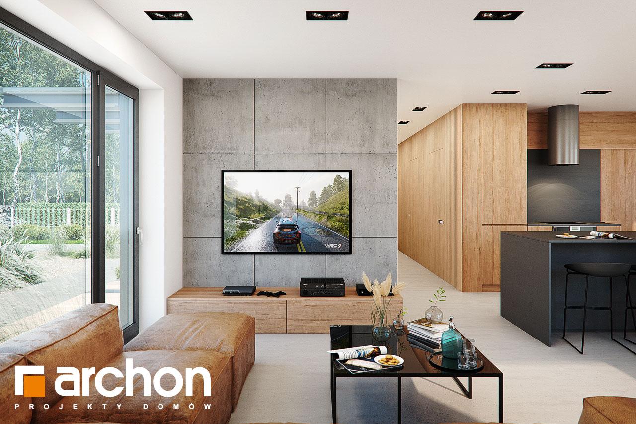 Проект дома ARCHON+ Дом в ирисе (НА) дневная зона (визуализация 1 вид 1)