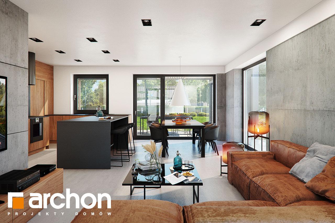 Проект дома ARCHON+ Дом в ирисе (НА) дневная зона (визуализация 1 вид 2)