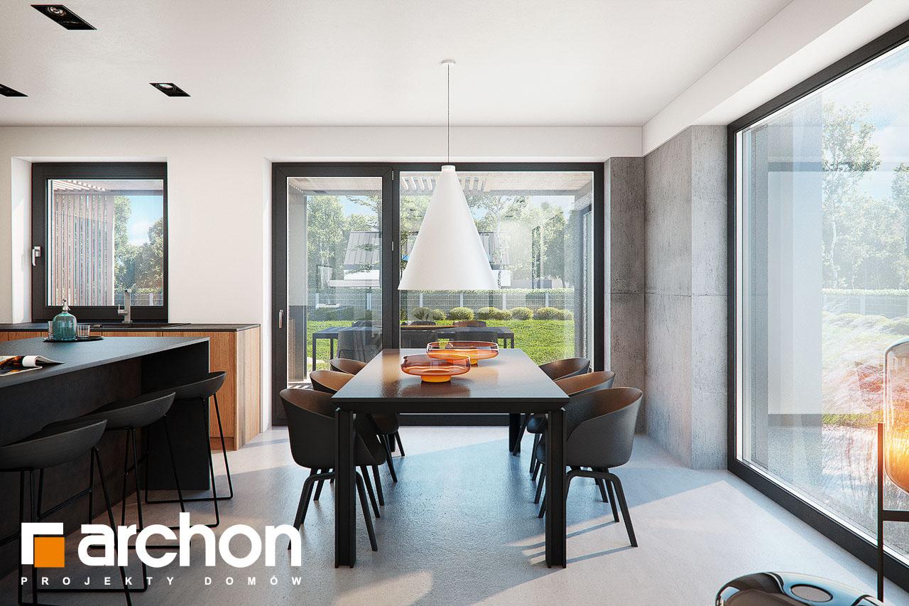 Проект дома ARCHON+ Дом в ирисе (НА) дневная зона (визуализация 1 вид 3)