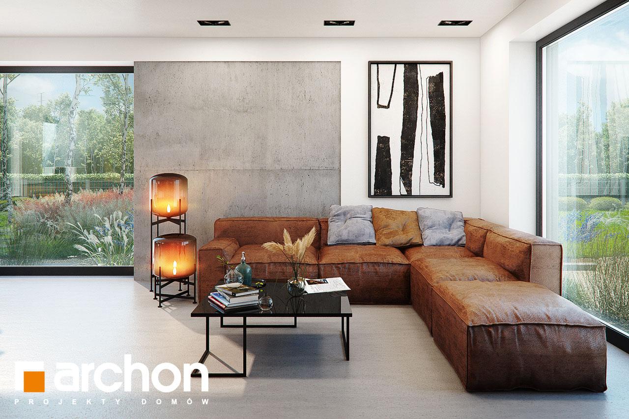 Проект дома ARCHON+ Дом в ирисе (НА) дневная зона (визуализация 1 вид 5)