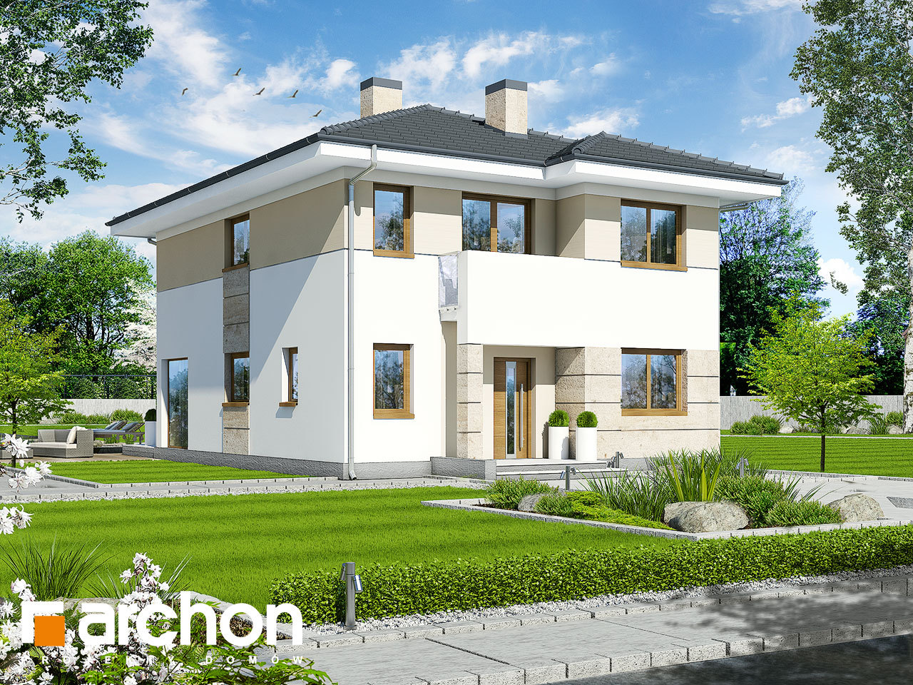 Проект будинку ARCHON+ Вілла Юлія 2 вер.2