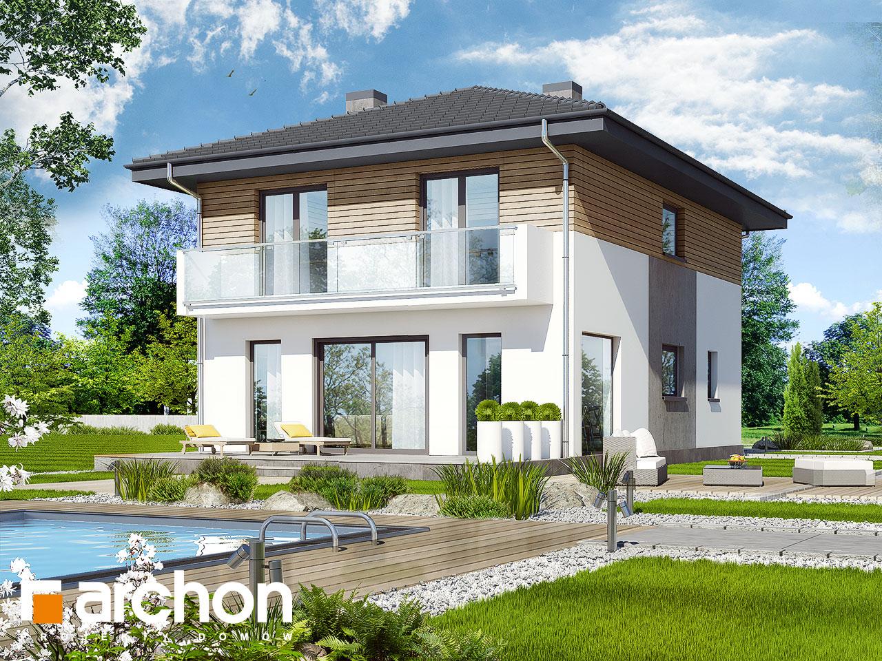 Проект будинку ARCHON+ Вілла Юлія 2 вер.2 стилізація 3