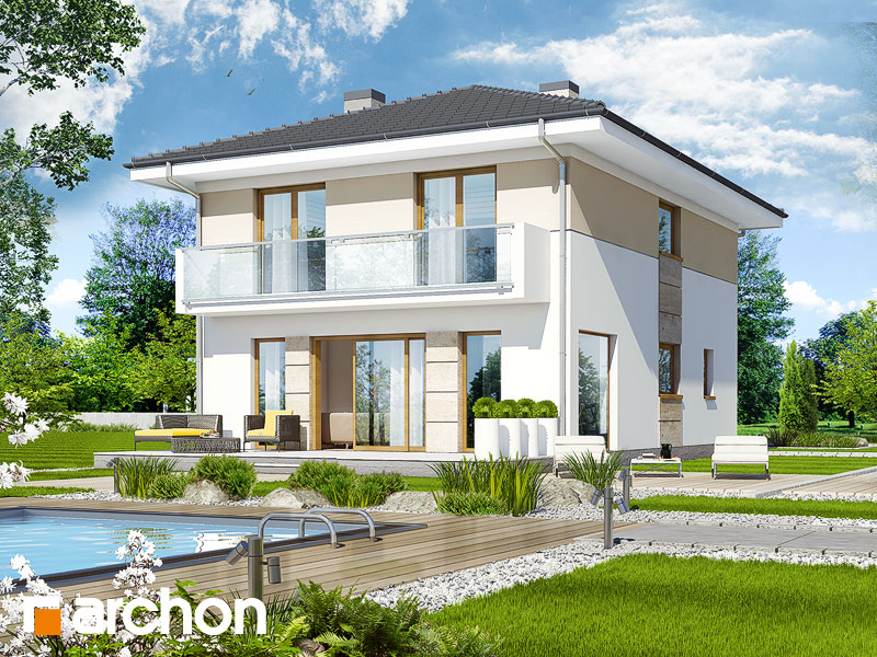 Проект будинку ARCHON+ Вілла Юлія 2 вер.2 Вид 2