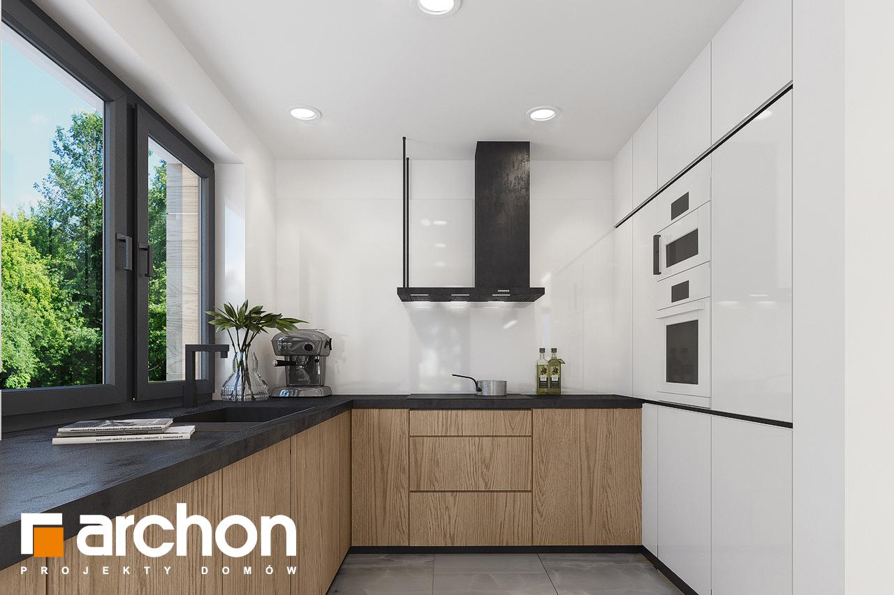 Проект дома ARCHON+ Дом в изопируме 4 визуализация кухни 1 вид 1