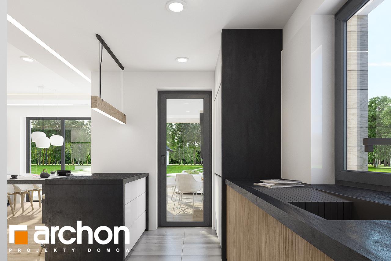 Проект дома ARCHON+ Дом в изопируме 4 визуализация кухни 1 вид 2