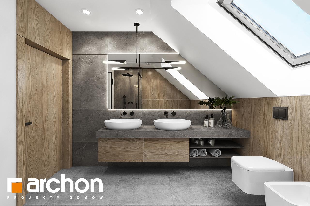 Проект дома ARCHON+ Дом в изопируме 4 визуализация ванной (визуализация 3 вид 1)