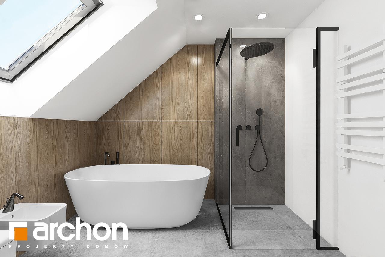 Проект дома ARCHON+ Дом в изопируме 4 визуализация ванной (визуализация 3 вид 3)