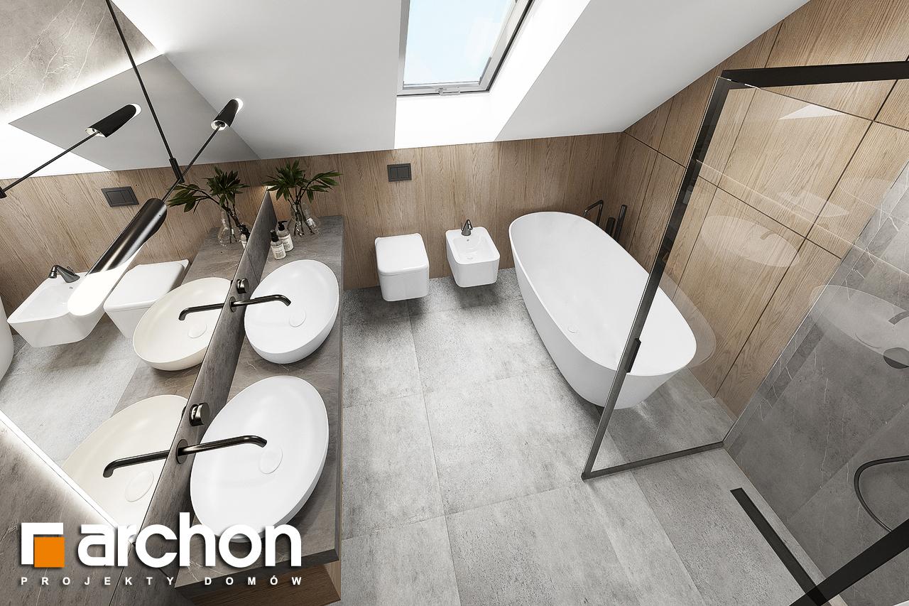 Проект дома ARCHON+ Дом в изопируме 4 визуализация ванной (визуализация 3 вид 4)