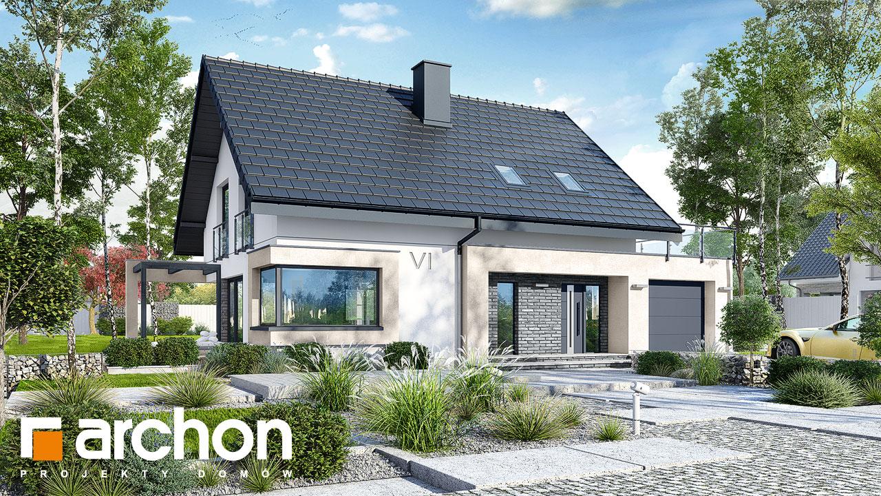 Проект будинку ARCHON+ Будинок в ізопірумі 4 стилізація 3