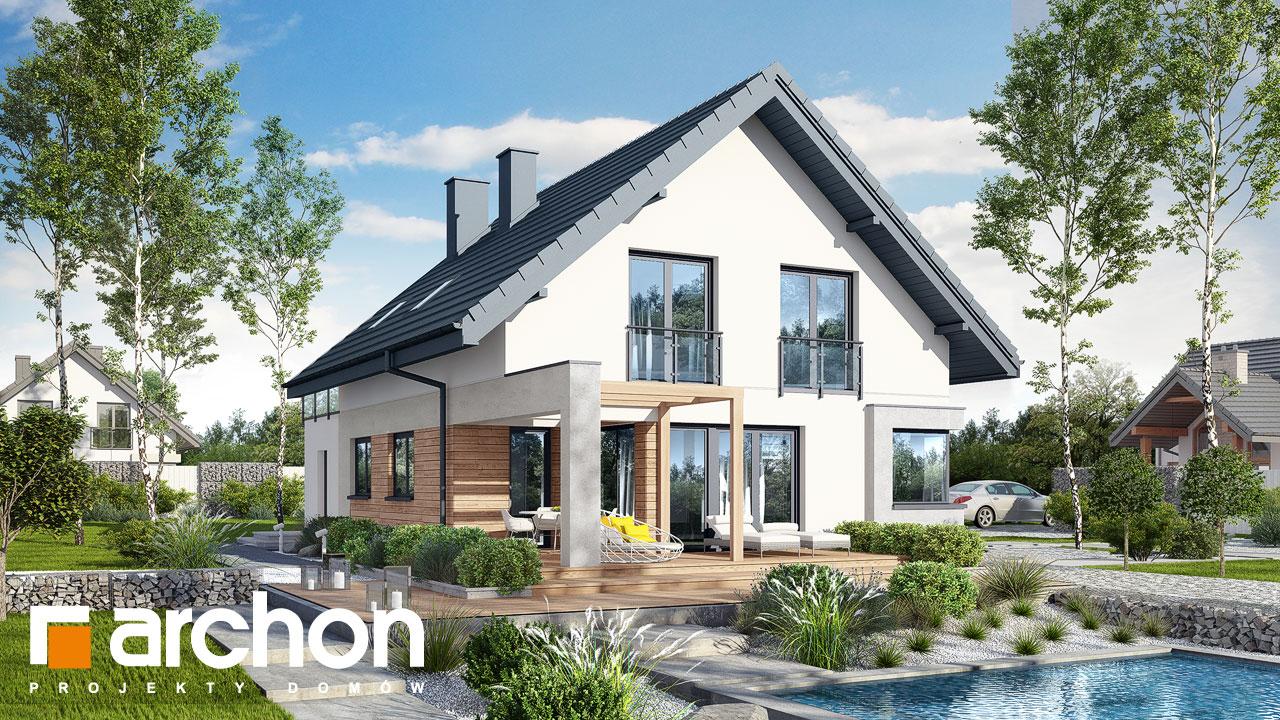 Проект будинку ARCHON+ Будинок в ізопірумі 4 Вид 2