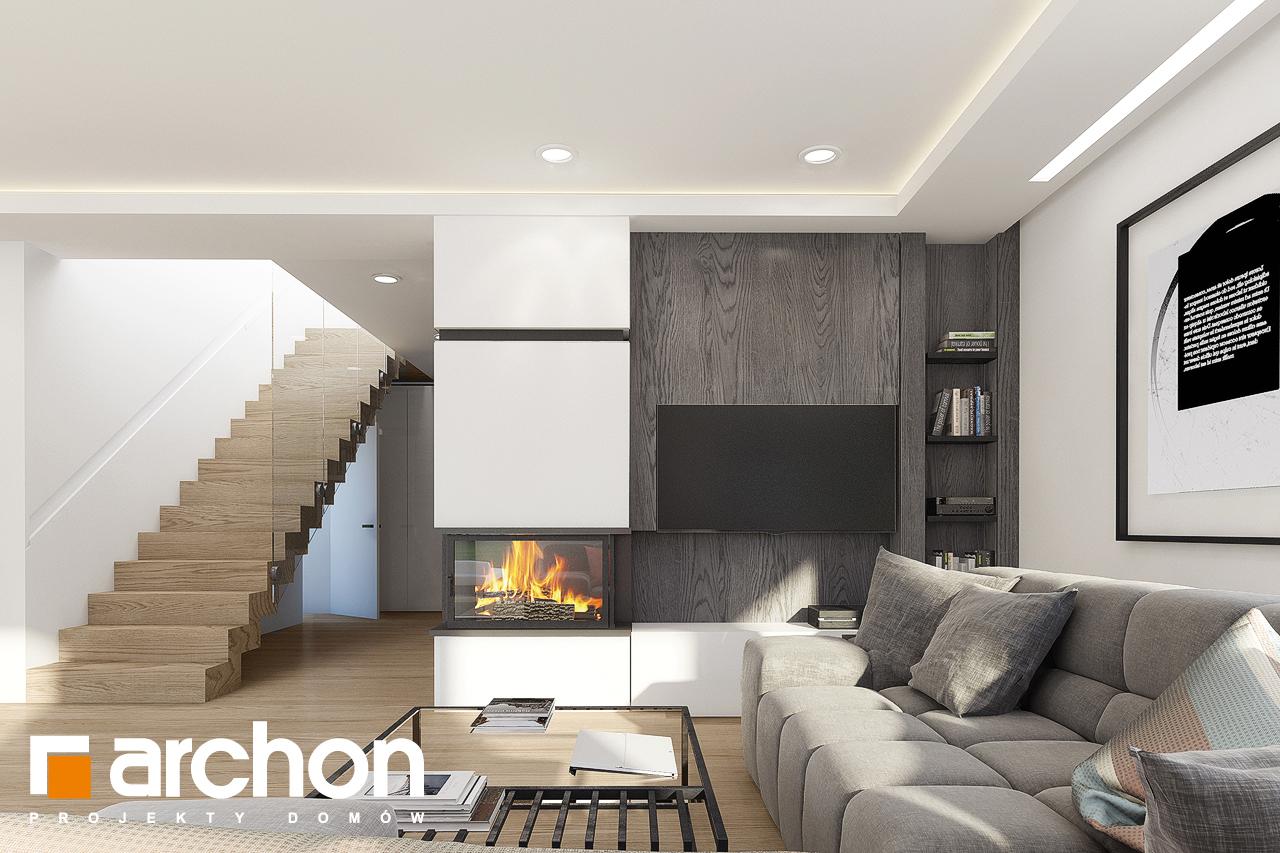 Проект дома ARCHON+ Дом в изопируме 4 дневная зона (визуализация 1 вид 2)