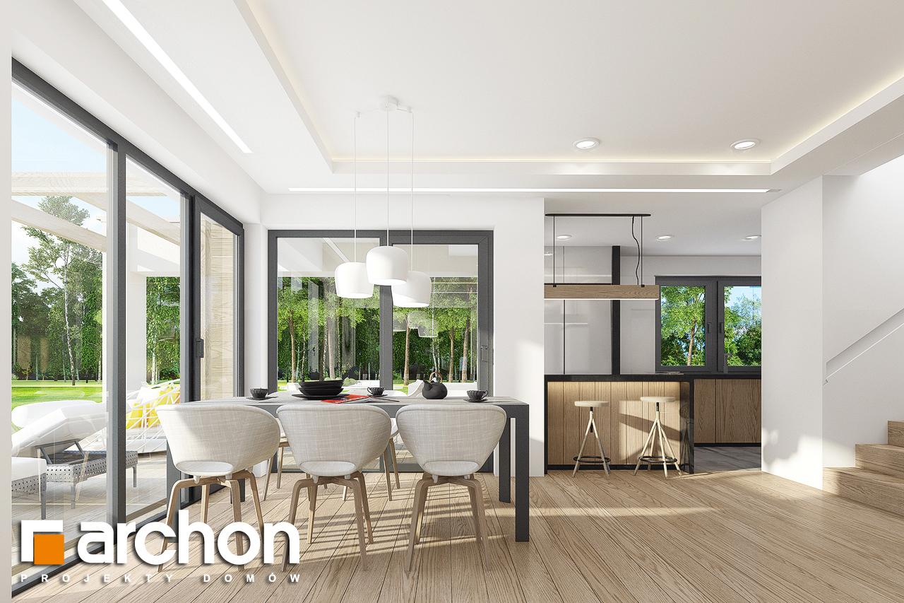 Проект дома ARCHON+ Дом в изопируме 4 дневная зона (визуализация 1 вид 3)