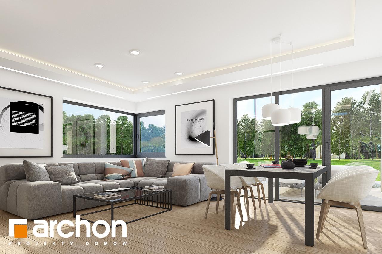 Проект дома ARCHON+ Дом в изопируме 4 дневная зона (визуализация 1 вид 4)