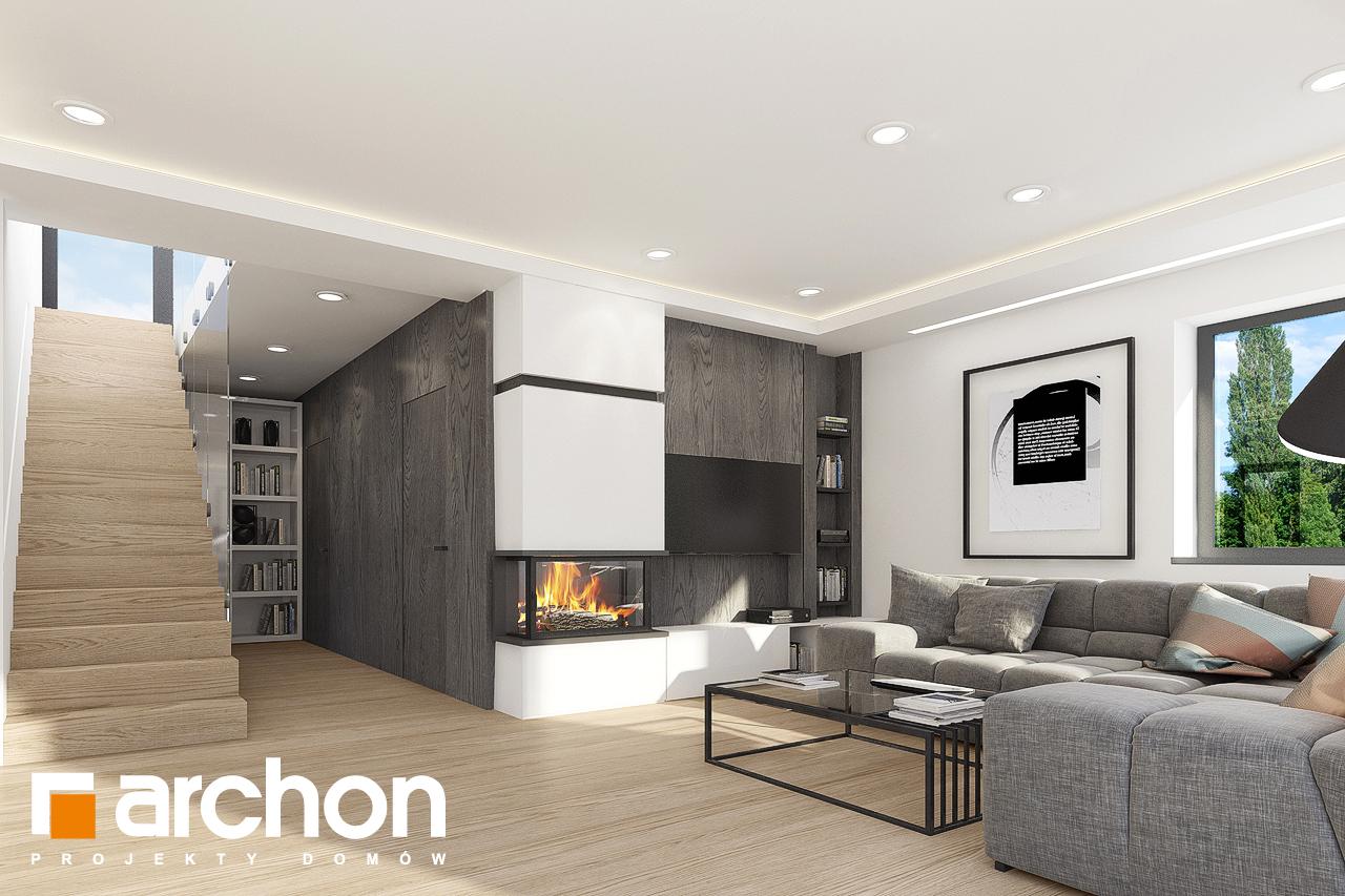 Проект дома ARCHON+ Дом в изопируме 4 дневная зона (визуализация 1 вид 6)