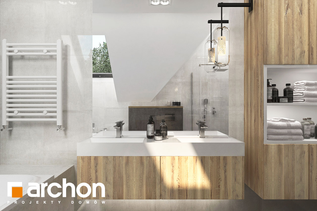 Проект будинку ARCHON+ Будинок в фаворитках 2 візуалізація ванни (візуалізація 3 від 1)