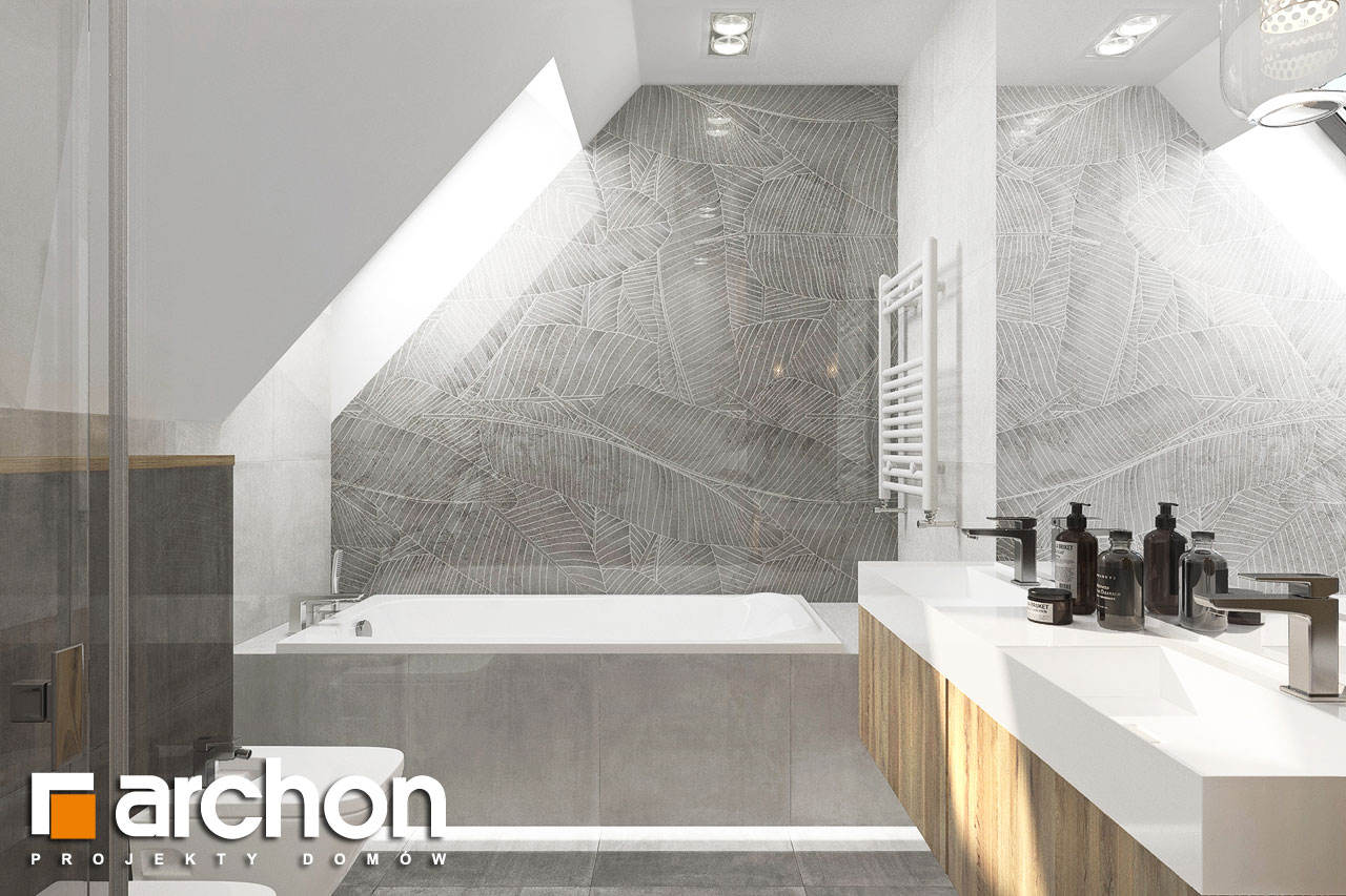 Проект будинку ARCHON+ Будинок в фаворитках 2 візуалізація ванни (візуалізація 3 від 2)