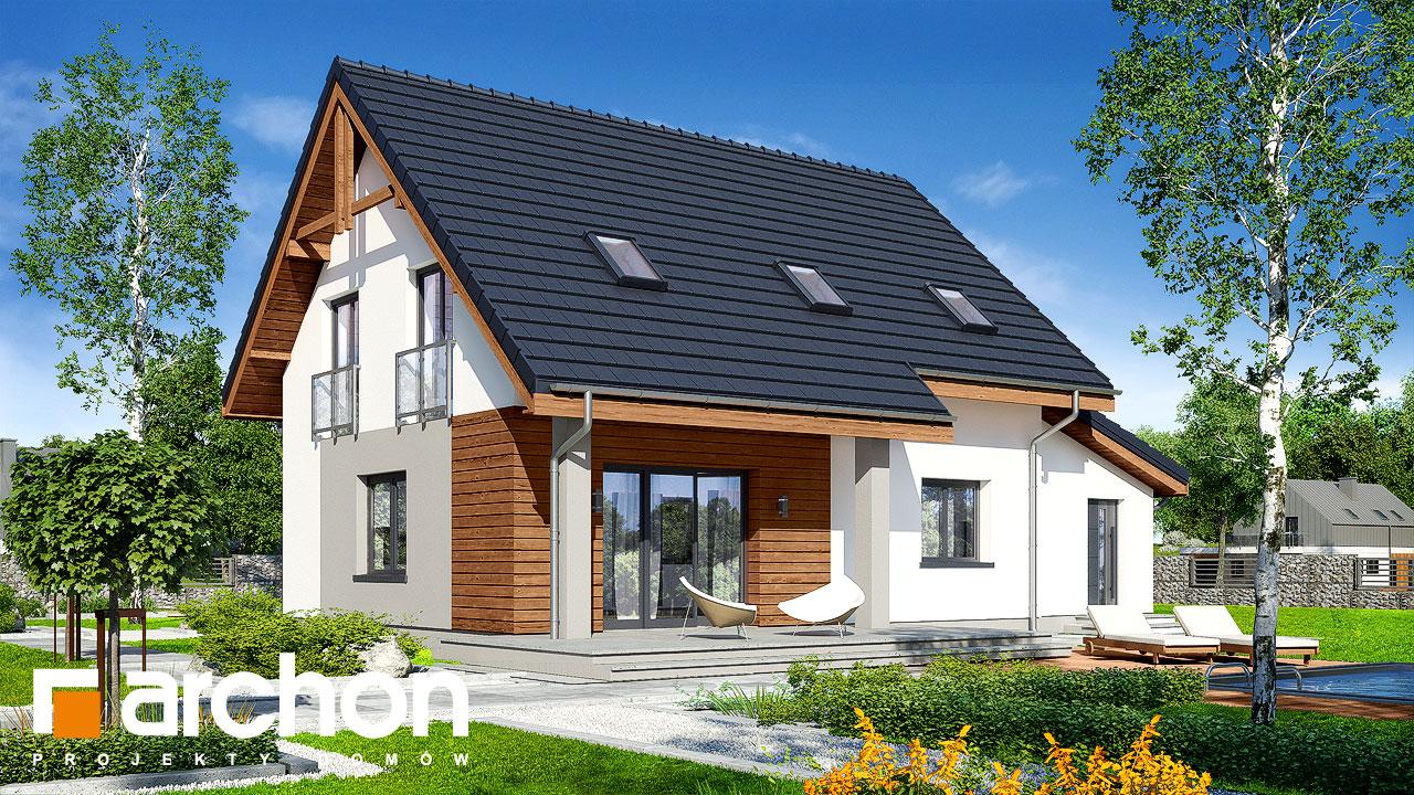 Проект будинку ARCHON+ Будинок в хлорофітумі 5 (ГА) Вид 2